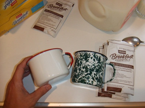My Grandma Hummel's enamelware was white with red rims.