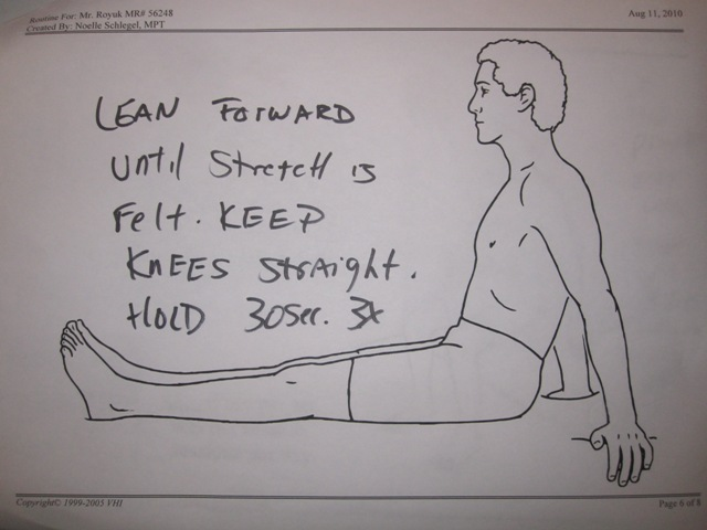 This is a lot harder than it looks, especially with tight hamstrings.