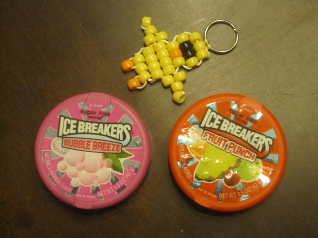 I got a new keychain bead set, too.  They're kind of fun to make...