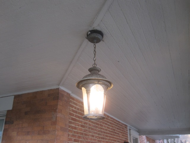 I like this fixture because it has three bulbs - it's so bright!
