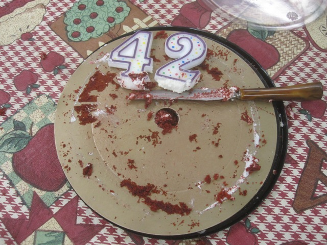 Do you know anyone who is turning 42?  Or 24?  I have some slightly used candles...