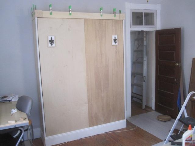 All it needs is paint and 'door handles'.