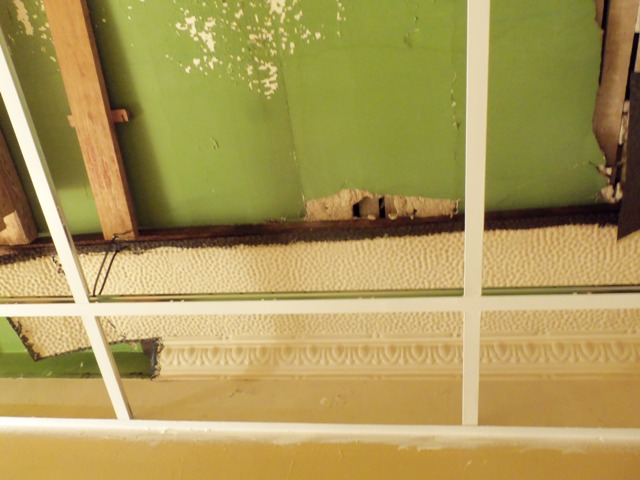 Painting suspended ceiling tiles