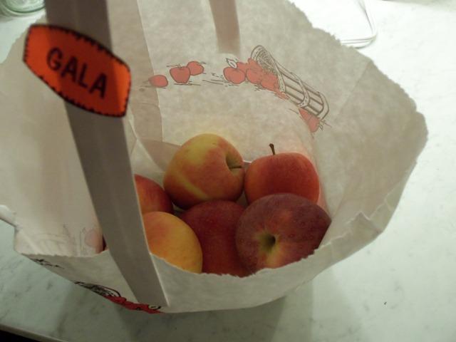 Delicious local apples.