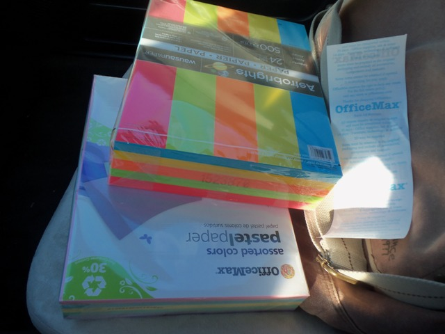 I love brightly colored paper!