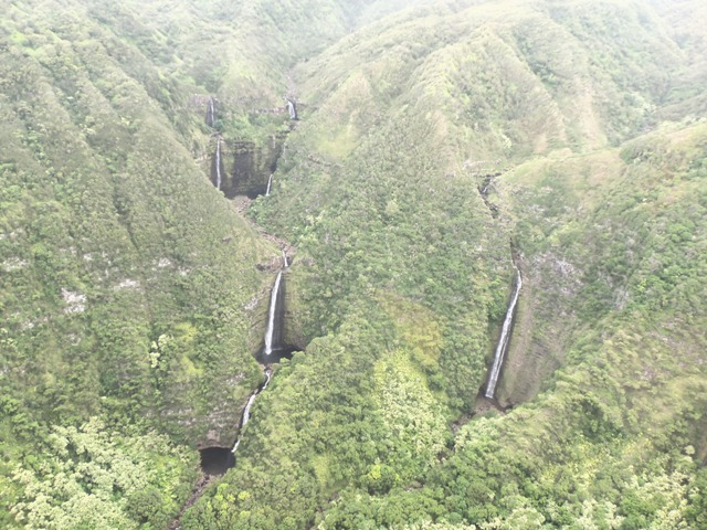 Molokai waterfalls.