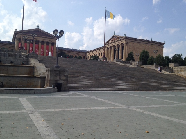 The art museum is a gigantic building.  It was seriously huge.