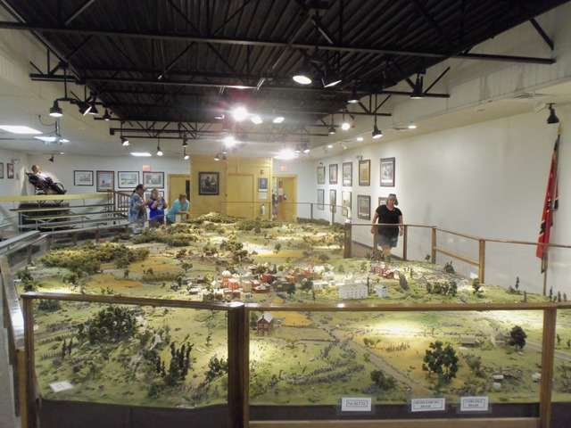 It's the largest military diorama in the United States.