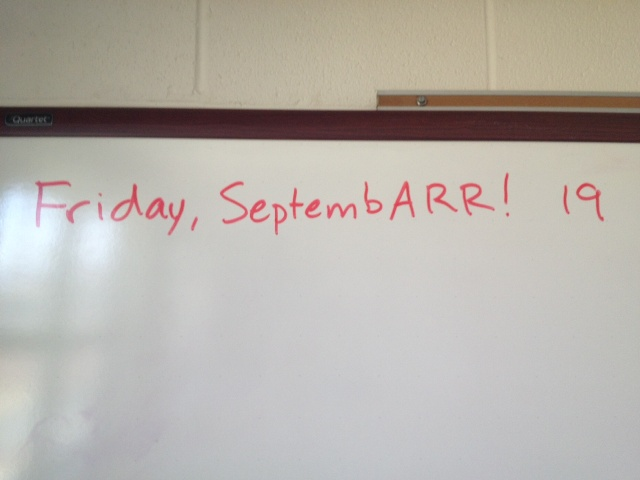 I write the date on the board each day.