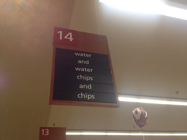 Thats all there is in aisle 14.