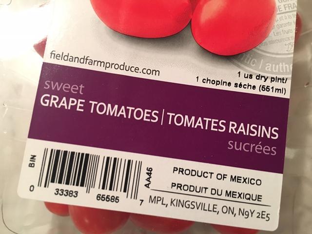 Tomatoes?  Raisins?