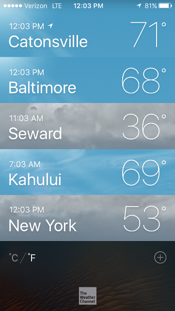 Seward is even colder today.   They're getting snow.