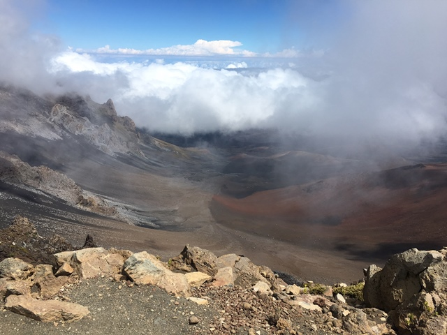 This is a view of the volcano crater.