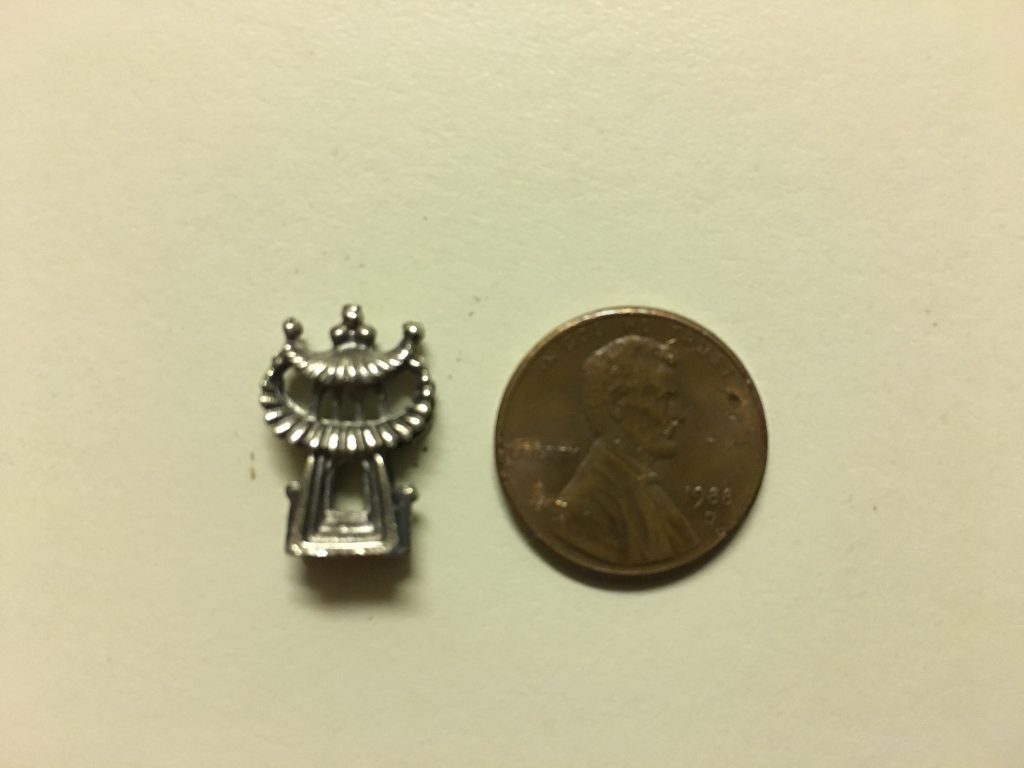 The penny is for scale.